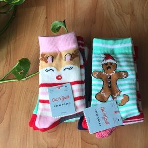 Cat & Jack Christmas Crew Socks